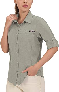 Little Donkey Andy Hemd Damen Sommer Shirts Brusttasche Lange Sportshirt UPF50+ UV-Schutzhemd Wandershirt