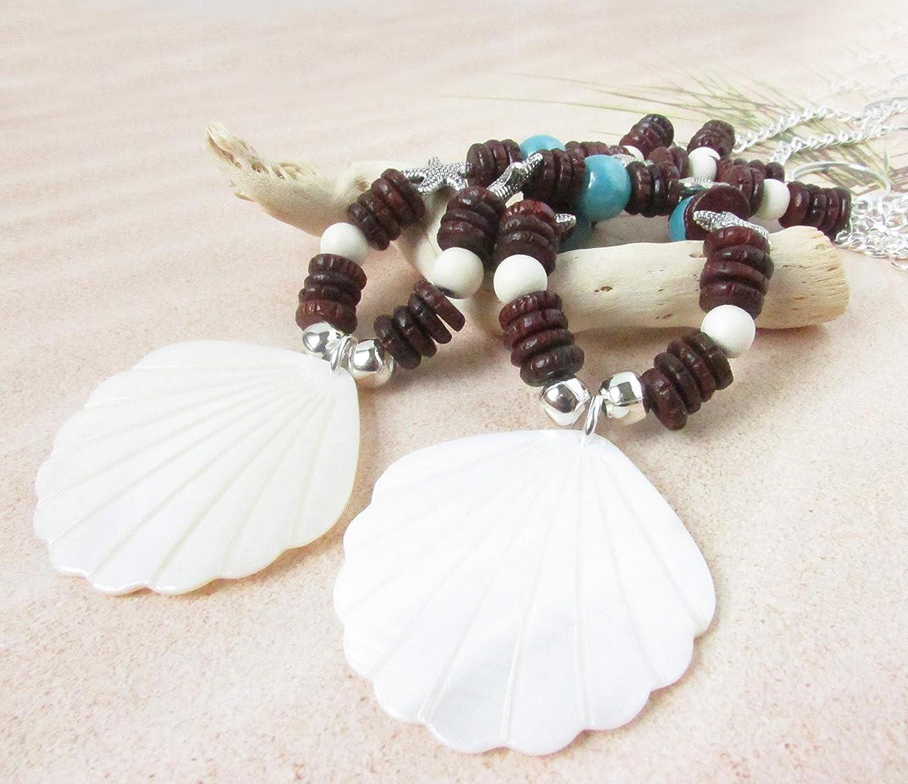 Sea Shell and Wood Curtain Tiebacks for Beach Home Decor