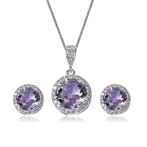 5ed4e7f390 Purple Wedding Necklaces: Amazon.com