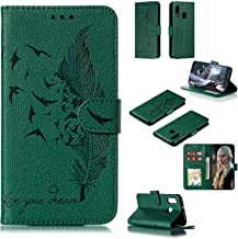 SZJCLTD Compatible with Samsung Galaxy A20E/A10E Wallet Case Cover, Magnetic Closure Kickstand Feature PU Leather Flip Cover Purse [with Card Slots] Money Pockets for Samsung Galaxy A20E/A10E (Green)