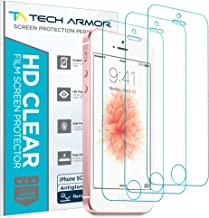 iPhone 5 Screen Protector, Tech Armor Anti-Glare/Anti-Fingerprint Apple iPhone 5C / 5S / 5 / SE Screen Protectors [3-Pack]