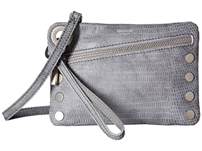 Hammitt Nash Small (Slate Tejus/Brushed Silver) Handbags