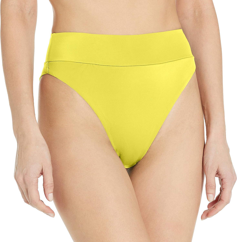 RVCA Women's Solid High Rise Bikini Bottom