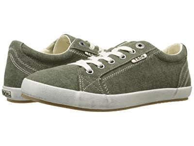Taos Footwear Star (Olive Wash Canvas) Women