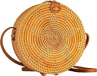 Straw Bag Rattan Boho Vintage Rectangular Cross Body Purse Hand Woven For Women Shoulder Crossbody Necessities Wicker Purses In Summer Vacation Star Pattern - Orgina Bags