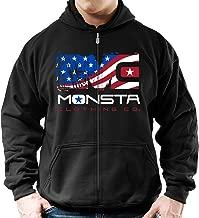 Monsta Clothing Co.. (USA:Unleash Savage Aggression Zip-Hoodie (G:BK-A:RD/WT/BL)