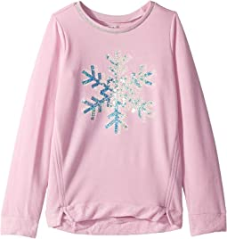 Sequined Snowflake Long Sleeve Pullover (Toddler/Little Kids/Big Kids)