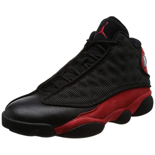 eca5426f420 Air Jordan 13 Retro mens lifestyle fashion sneakers black/true red-white  NEW 414571