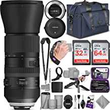 Tamron SP 150-600mm F/5-6.3 Di VC USD G2 Lens for Canon DSLR Cameras + Tap-in Console with Altura Photo Complete Accessory and Travel Bundle