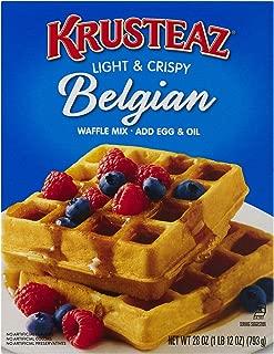 Krusteaz Light & Crispy Belgian Waffle Mix - No Artificial Flavors, Colors, or Preservatives - 28 OZ (Pack of 2)
