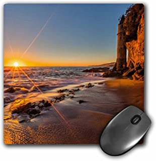 3dRose Sunset at Victoria Beach in Laguna Beach, CA - Mouse Pad, 8 by 8 inches (mp_206999_1)