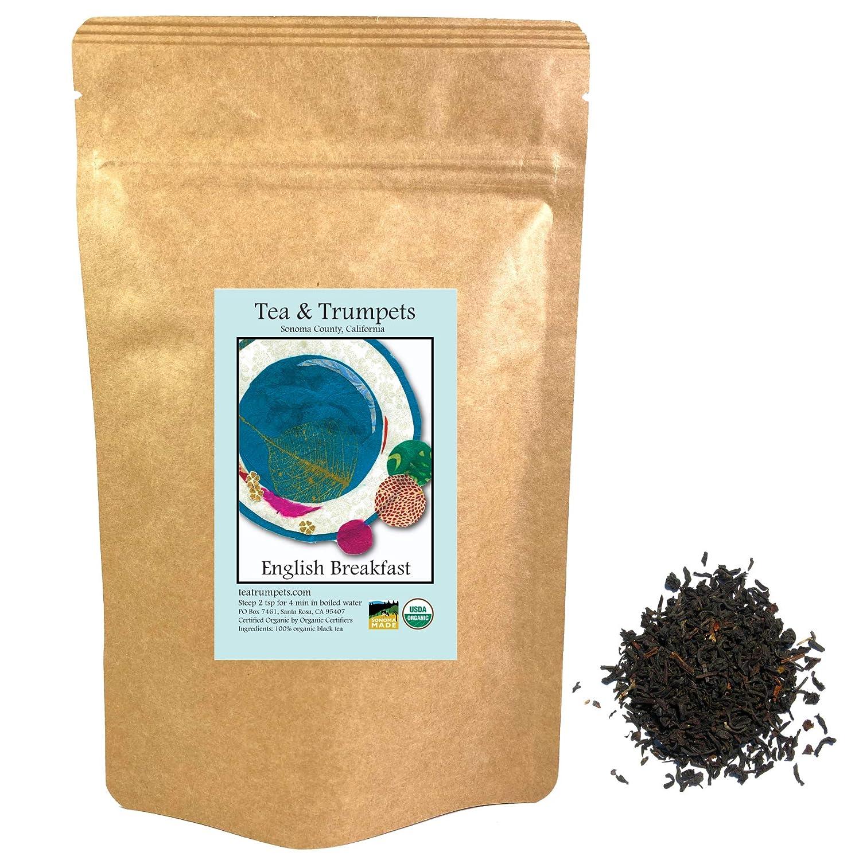 Tea Trumpets Max 73% OFF USDA Super sale period limited Organic English Leaf Black Loose T Breakfast