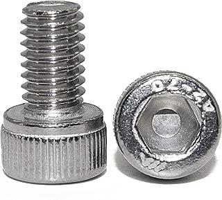 Fullerkreg 0.7mm Pitch M4 x 10MM Socket Head Cap Screws, Allen Socket Drive, Din 912, AISI 304 Stainless Steel (18-8), Full Thread, Bright Finish, Machine Thread, Quantity 100