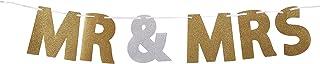 Amscan Kullan At Market Tm-Sus-0262 Mr.& Mrs Pırıltılı Düğün Harf Afiş