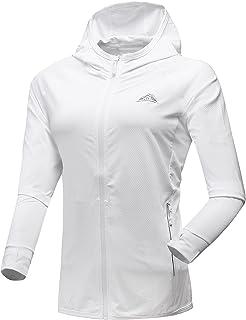Sponsored Ad - Men's Women's UPF 50+ Sun Protection Long Sleeve Hiking Running Fishing Shirts Zipper Closure Hooded Jacket