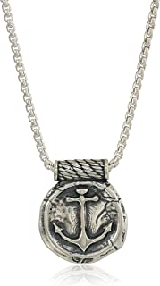 Alex and Ani Men's Anchor 32-Inch Pendant Necklace, Sterling Silver, Expandable