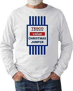 682 Designs Tesco Value Christmas Jumper Sweat Shirt Gift White Jumper