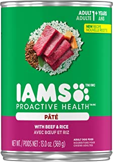 Iams Proactive Health Adult with Beef and Rice Pate Wet Dog Food 13.0 Ounces (Pack of 12)…