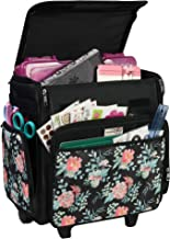 Everything Mary Collapsible Rolling Craft, Flowers - Wheeled Scrapbook Tote for Scrapbooking & Art - Travel Organizer Stor...