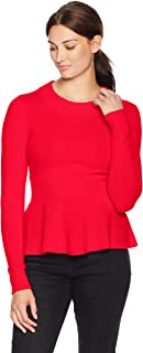 Lark & Ro Amazon Brand Women's Sweaters Peplum Cashmere Sweater