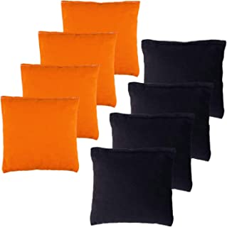 YAADUO Set of 8 Regulation Cornhole Bags, Weather Resistant Standard Corn Hole Bean Bags for Tossing Game, Includes Tote Bags