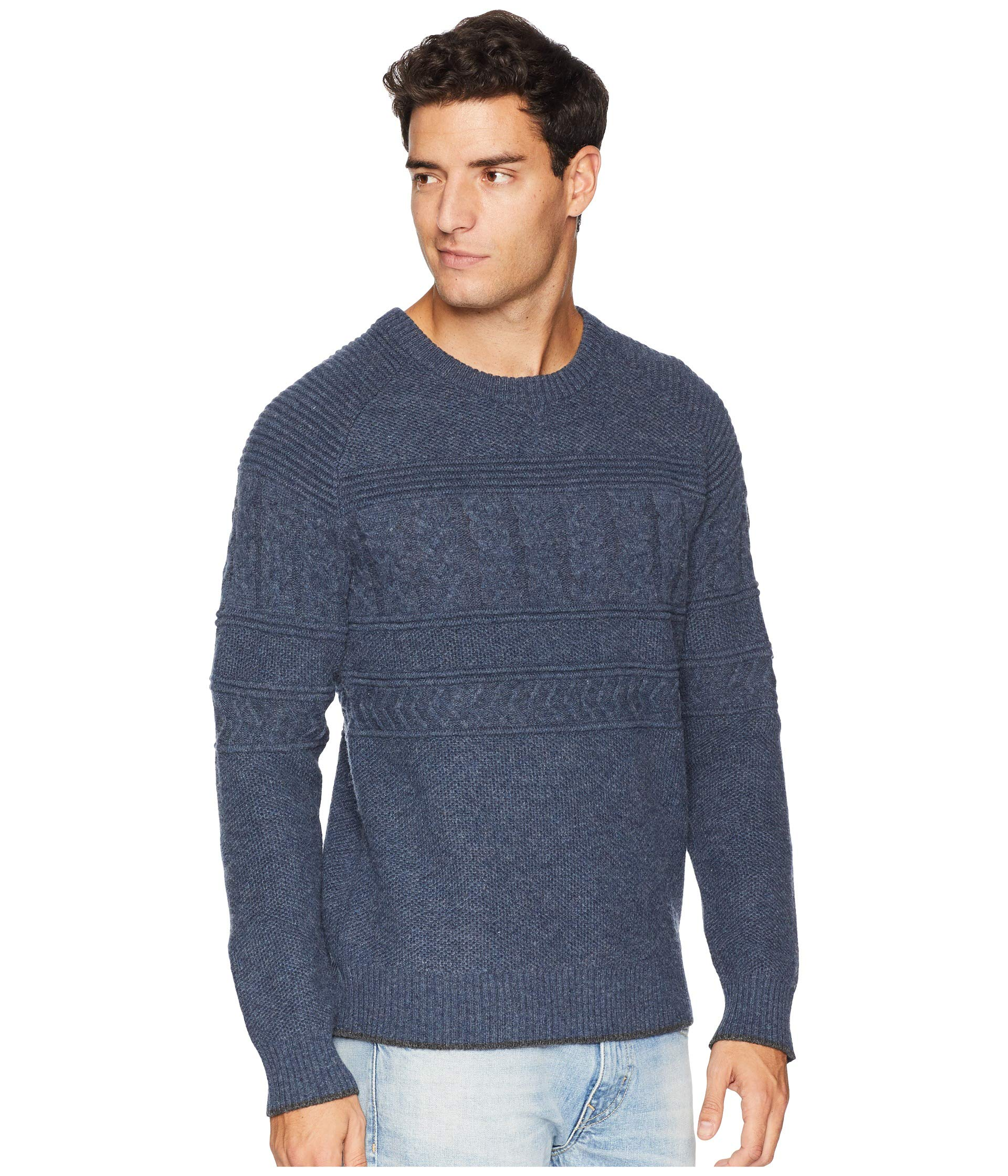 Sweater Textured Obermeyer Neck Trident Crew qxRtSz4
