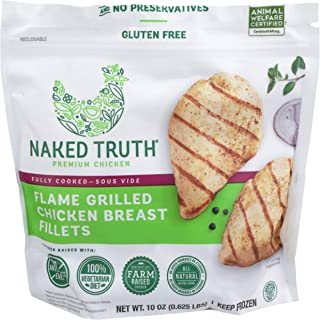 Naked Truth, Flame-Grilled Chicken Breast Fillets, 10 oz (Frozen)