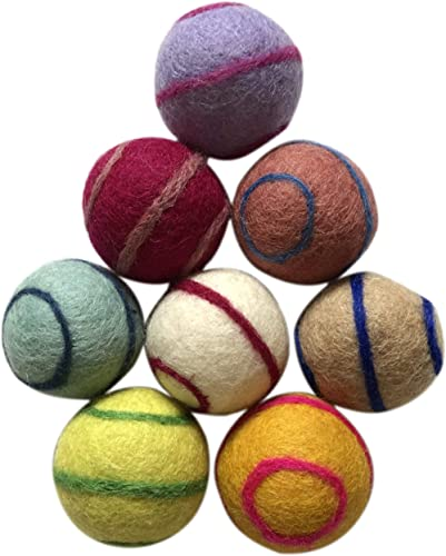 Three Drops of Life Wool Ball Cat Toys, Eco Friendly Safe for Cats Ferrets and Small Animals, Safe Pet Balls for Indo...