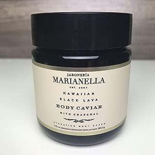 Jaboneria Marianella Hawaiian black lava body caviar with charcoal body scrub (7.25 Oz)