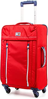 Tommy Hilfiger Casual XL Softside Spinner Luggage, Red