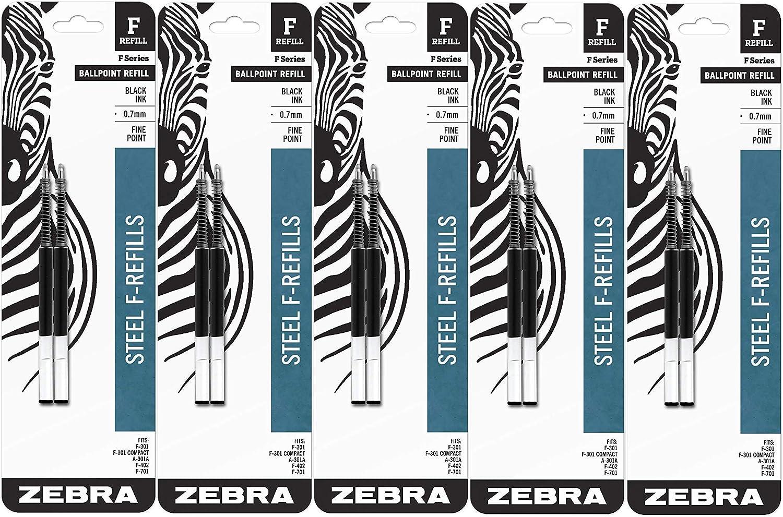 Zebra F-Series Ballpoint Stainless Mesa Mall Steel Point Fine Nashville-Davidson Mall Refill Pen