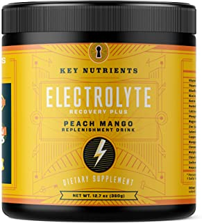 Electrolyte Powder, Peach Mango Hydration Supplement: 90 Servings, Carb, Calorie & Sugar Free, Delicious Keto Replenishmen...
