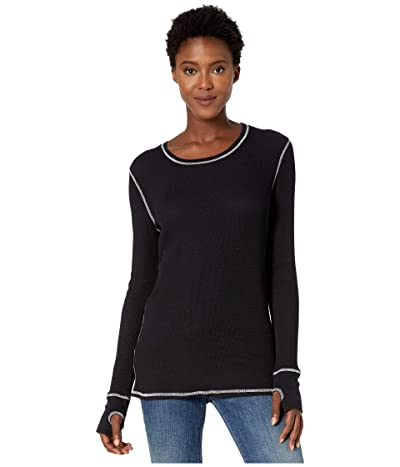 Mod-o-doc Thermal Long Sleeve Tee with Thumb-Holes (Black) Women