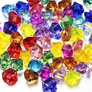 Multi-Colored Acrylic Diamonds Pirate Jewels - Treasurefor Costume Stage Props, Party Decoration.Wedding and Vase Fillers, 100 Pcs