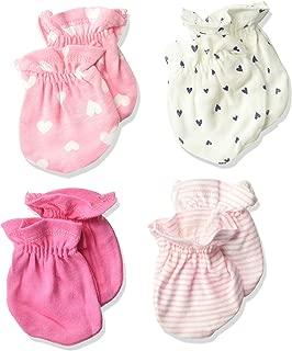 GERBER Baby Girls' 4-Pair Mittens