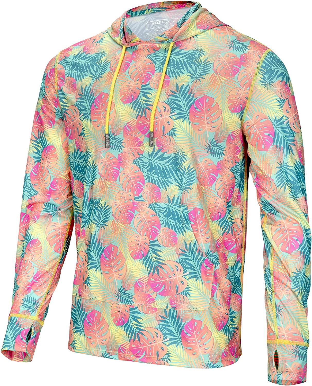 Men's Performance UPF 50+ UV/Sun Protection Hoodie T-Shirt Long Sleeve with Pockets SPF Shirt Running Hiking Shirt
