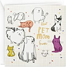 Hallmark Studio Ink Mothers Day Card from Dog or Cat (Best Pet Mom Ever)