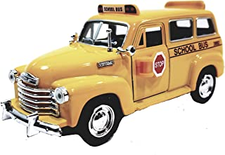 Kinsmart 1950 Chevy Suburban City School Bus 1/36 Scale Diecast Commercial Passenger Vehicle