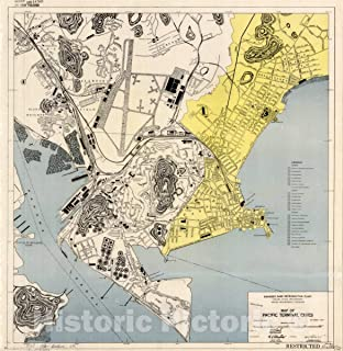 Historic Pictoric Map : Panama 1947, Map of Pacific Terminal Cities : [Panama City, Ancon, Balboa, and Environs], Antique Vintage Reproduction : 44in x 44in
