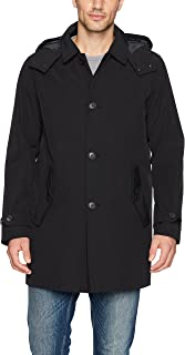 hooded trench coat mens