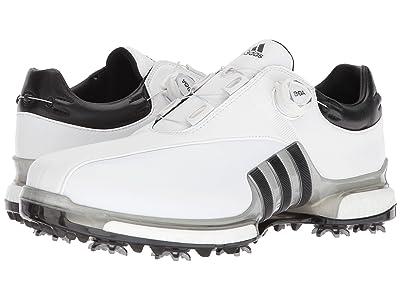 adidas Golf Tour360 EQT Boa (Footwear White/Silver Metallic/Core Black) Men