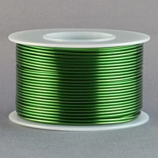 Magnet Wire 18 Gauge AWG Enameled Copper 100 Feet Coil Winding and Crafts Green