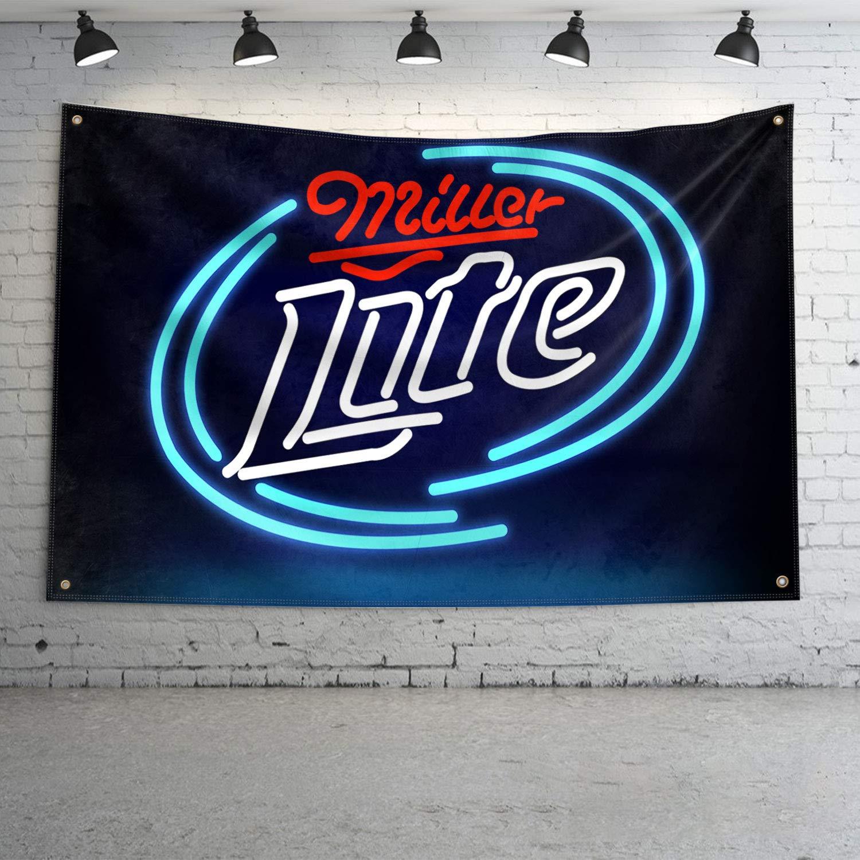 Miller Lite Complete Free Shipping Fans Banner NEW before selling ☆ Flag Resistance Beverage Beer UV