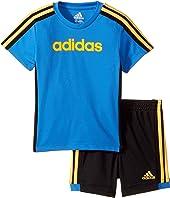 adidas Kids - Hat Trick Shorts Set (Infant)
