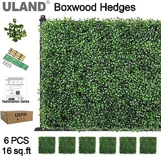 Paneles de hojas de hiedra artificiales, como decoración o barrera de privacidad, paquete de 6 piezas de 50,8 x 50,8 cm