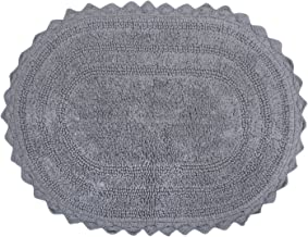 DII 100% Cotton Crochet Medium Oval Luxury Spa Soft Bath Rug, for Bathroom Floor, Tub, Shower, Vanity, and Dorm Room, 17x2...
