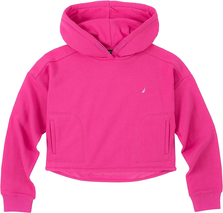 Nautica Girls' Fleece Full-Zip Hoodie Sweatshirt