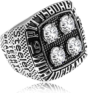 CHARM ONLINE Men's Championship Rings Super Bowl Replica Rings with Display Box