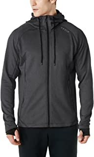 Tesla Men's Active Running Hoodie Full-Zip Jacket