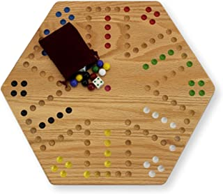 AmishToyBox.com Oak Hand-Painted Double-Sided Aggravation Game Board, 16